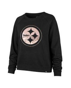 Pittsburgh Steelers Women's '47 Cosmo Sequin Fleece Crew