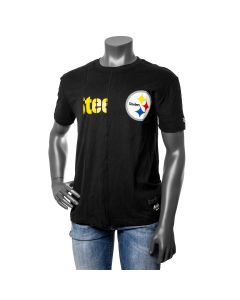 Pittsburgh Steelers Men's New Era Split Logo Short Sleeve T-Shirt
