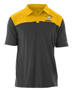 Pittsburgh Steelers Men's New Era Block Yoke Polo