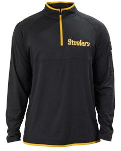 Pittsburgh Steelers Men's New Era Lightweight Silicone 1/2 Zip