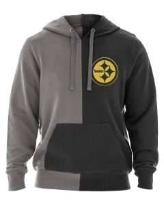 Pittsburgh Steelers Men's New Era Color Rush Block Fleece Hoodie