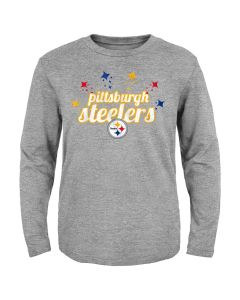 Pittsburgh Steelers Toddler Girls' Starburst Long Sleeve T-Shirt