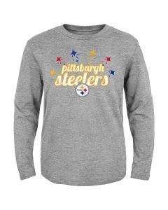 Pittsburgh Steelers Toddler Girls' Starburst Long Sleeve T-Shirt