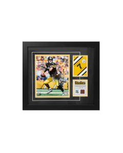 Pittsburgh Steelers #7 Ben Roethlisberger Framed Photo with a piece of Game-Used Football