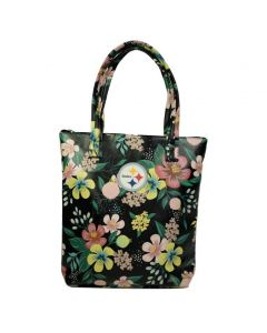 Pittsburgh Steelers Floral Tote Bag