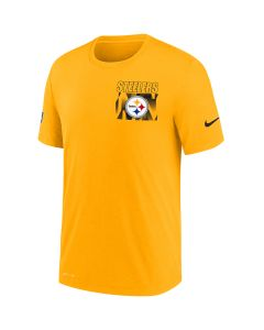 Pittsburgh Steelers Men's Nike Short Sleeve Dri-FIT Cotton Facility Gold T-Shirt