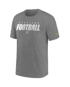 Pittsburgh Steelers Men's Nike Short Sleeve Dri-FIT Cotton Football All Charcoal T-Shirt