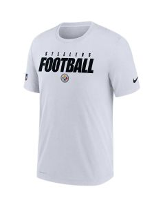 Pittsburgh Steelers Men's Nike Short Sleeve Dri-FIT Cotton Football All White T-Shirt