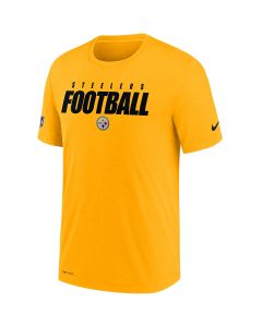 Pittsburgh Steelers Men's Nike Short Sleeve Dri-FIT Cotton Football All Gold T-Shirt