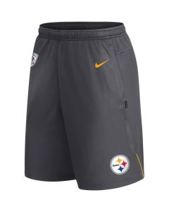 Pittsburgh Steelers Nike Dri-Fit Charcoal Coach Short