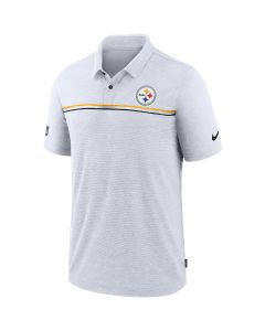 Pittsburgh Steelers Men's Nike Dri-Fit White Polo