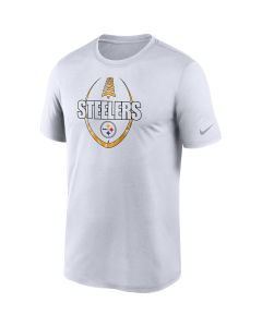 Pittsburgh Steelers Men's Nike Icon Short Sleeve White T-Shirt
