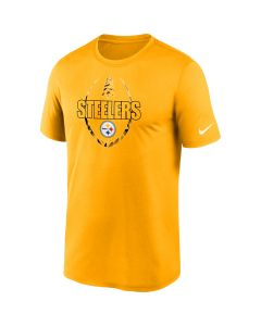 Pittsburgh Steelers Men's Nike Icon Short Sleeve Gold T-Shirt