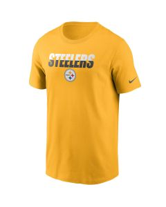 Pittsburgh Steelers Men's Nike Short Sleeve Split Team Name Essential Gold T-Shirt