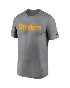 Pittsburgh Steelers Men's Nike Short Sleeve Legend Wordmark Charcoal T-Shirt