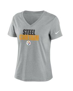 Pittsburgh Steelers Women's Nike Local Impact Triblend Short Sleeve T-Shirt