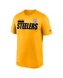 Pittsburgh Steelers Men's Nike Short Sleeve Playbook Sideline Gold T-Shirt