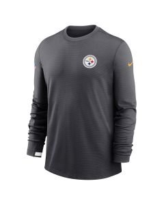 Pittsburgh Steelers Men's Nike Modern Therma Grey Crew