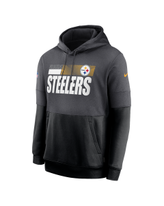Pittsburgh Steelers Men's Nike Playbook Therma Grey Sideline Hoodie