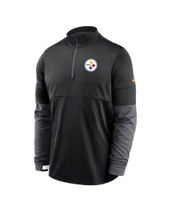 Pittsburgh Steelers Men's Nike Therma Grey 1/2 Zip