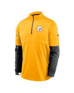 Pittsburgh Steelers Men's Nike Therma Gold 1/2 Zip