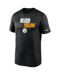 Pittsburgh Steelers Men's Nike Short Sleeve Legend Bleed Black & Yellow T-Shirt