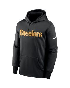 Pittsburgh Steelers Men's Nike Therma Wordmark Hoodie
