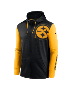 Pittsburgh Steelers Men's Nike Therma Full Zip Color Rush Hoodie