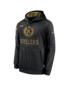 Pittsburgh Steelers Men's Nike Therma Salute to Service (STS) Pullover Hoodie