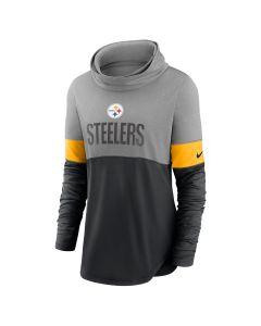Pittsburgh Steelers Women's Nike Long Sleeve Light Impact Cowl T-Shirt