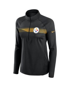 Pittsburgh Steelers Women's Nike Print Logo Element 1/2 Zip Top
