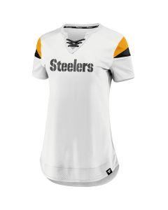 Pittsburgh Steelers Women's Iconic Wordmark Athena Short Sleeve Tee