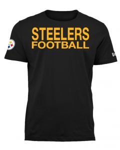 Pittsburgh Steelers Men's New Era Energy Applique Short Sleeve T-Shirt