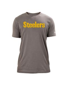 Pittsburgh Steelers Men's New Era Energy Wordmark Short Sleeve T-Shirt