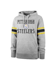 Pittsburgh Steelers '47 Double Block Sleeve Stripe Fleece Hoodie