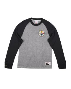 Pittsburgh Steelers Mitchell & Ness Thermal Raglan Long Sleeve T-Shirt