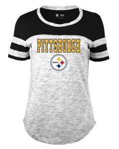 Pittsburgh Steelers Women's New Era Space Dye Short Sleeve T-Shirt