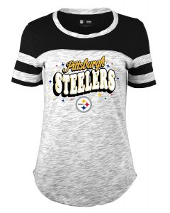 Pittsburgh Steelers Girls' Space Dye Short Sleeve T-Shirt