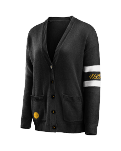 Pittsburgh Steelers Women's Button Front Cardigan