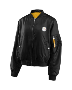 Pittsburgh Steelers Women's Coordinate Mediumweight Bomber Jacket