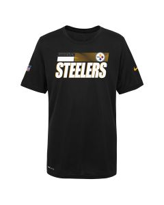 Pittsburgh Steelers Boy's Nike Short Sleeve Playbook Sideline T-Shirt