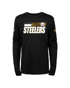 Pittsburgh Steelers Boy's Nike Long Sleeve Playbook Sideline T-Shirt