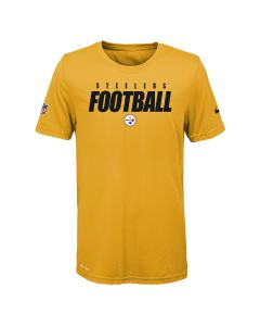 Pittsburgh Steelers Youth Nike Short Sleeve Dri-FIT Cotton FootbALL Gold T-Shirt