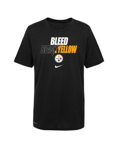 Pittsburgh Steelers Youth Nike Bleed Black & Yellow Short Sleeve T-Shirt