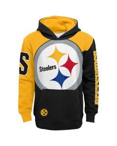 Pittsburgh Steelers Boys' Quarterback Sneak Pullover Fleece Hoodie