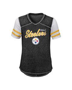 Pittsburgh Steelers Girls' Team Spirit Short Sleeve T-Shirt