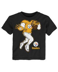 Pittsburgh Steelers Toddler Boys Yard Rush II Short Sleeve T-Shirt