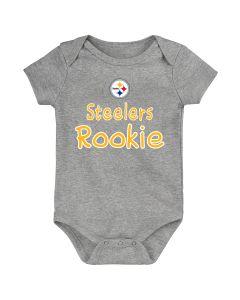 Pittsburgh Steelers Boys' Newborn Rookie Short Sleeve Creeper