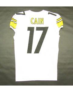 Pittsburgh Steelers #17 Deon Cain Game Used Away Uniform Set