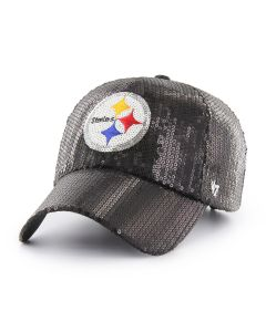 Pittsburgh Steelers '47 Women's CLEAN UP Dazzle Logo Cap